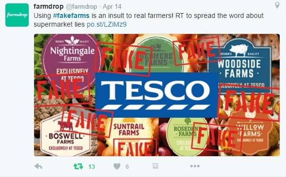 Fake farm tesco post by Helen Dewdney