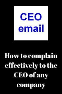 CEO contact details complaining effectively