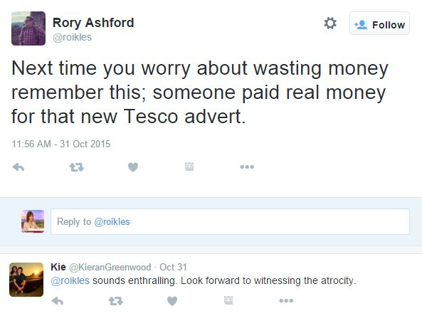 Tesco adverts waste of money