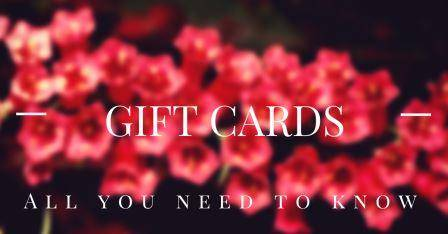 Gift cards all you need to know