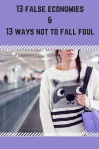 Woman walking 13 ways noto fall foul of false economies and 13 ways to avoid them