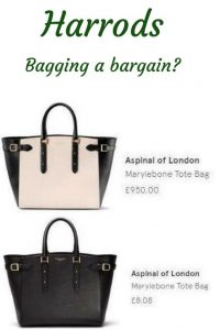 1 Aspinal handbag full price £950 and one at £8.08