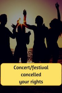 concert or festival cancelled your rights on top of people dancing on beach