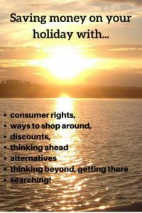 sun setting over water consumer rights, ways to shop around, discounts, alternatives, thinking beyond and searching