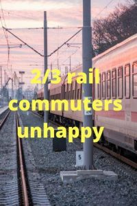 Picture of a train 2/3 rail commuters unhappy