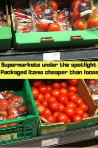 """Co-Op packaged and loose tomatoes """"supermarkets under the spotlight packaged items cheaper than loose"""""""