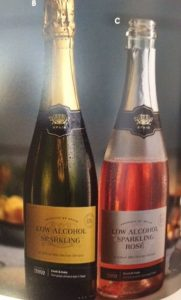 one white one rose low alcohol sparkling wine