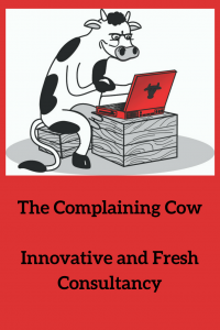 The Complaining Cow logo Innovative and fresh Consultancy