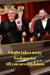 Greg Davies Alex Horne Taskmaster on tv on wall