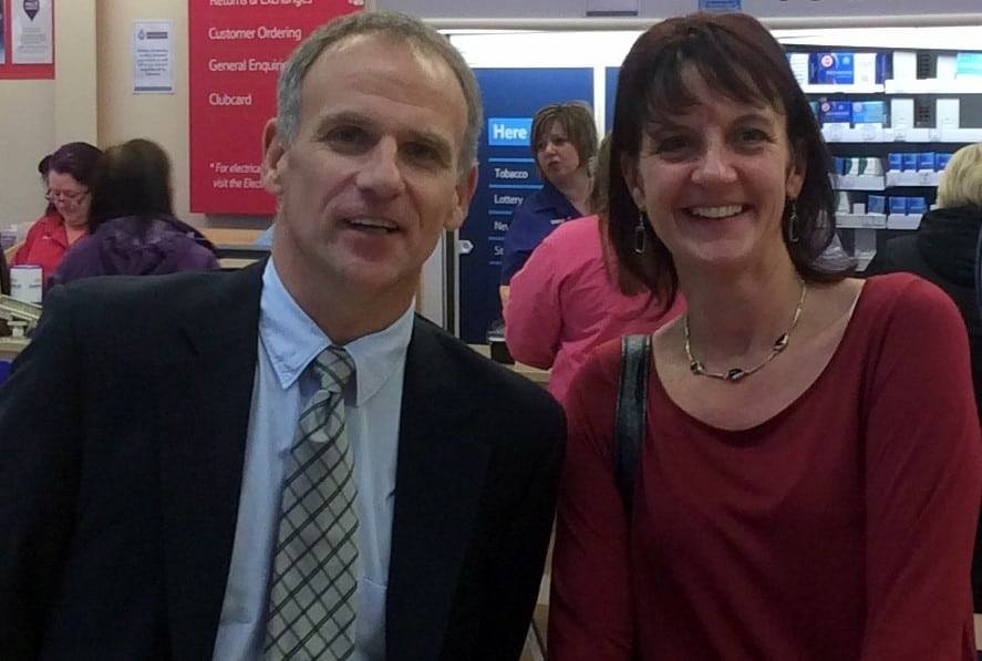 Tesco Group CEO Dave Lewis Helen Dewdney in store