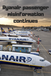 Ryanair aeroplanes on runway text Ryanair misinformation continues