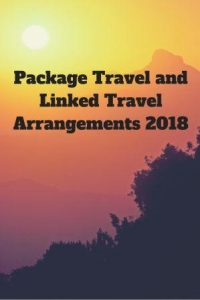 Package Travel and Linked Travel Arrangements 2018 on a sunset