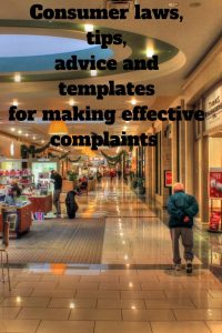 man walking past shops Consumer laws tips templates for making effective complaints