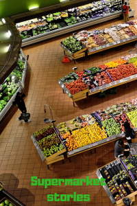 fresh fruit and veg in a supermarket
