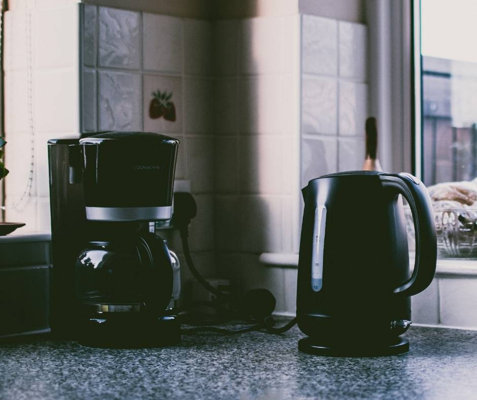 kettle and coffee maker