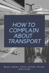 how to complain about transport caption on grid of plane, tube, cruise inside tube