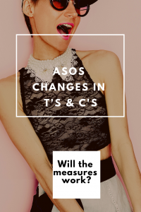 ASOS changes in ts and cs will the measures work on woman in black top