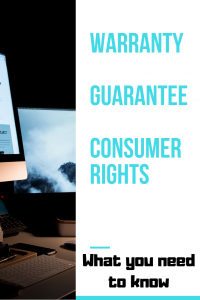 Warranty Guarantee consumer rights what you need to know down one side picture of tv the other side