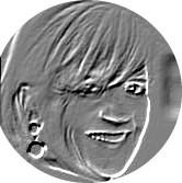 silver embossed coin face of Helen Dewdney