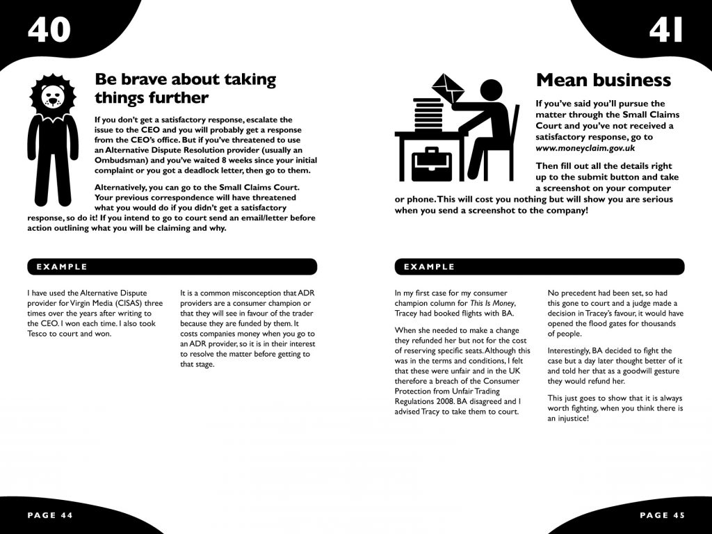 layout of two pages