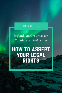 green background how to assert your legal rights Covid-19 related issues