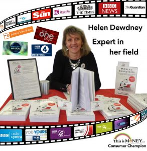 Helen Dewdney expert in her field logos of TV and radio