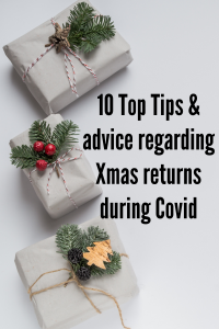 10 Top Tips and advice regarding Xmas returns during Covid with three box presents