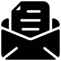 template in envelope icon
