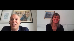 Robert Rinder and Helen Dewdney on Zoom